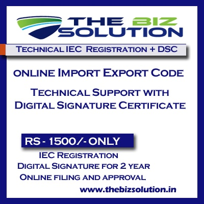 Technical Import Export Code Online Registration Support IE Code