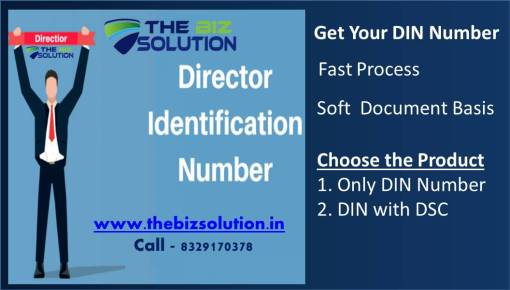 Director Identification Number (DIN) Registration at very Lowest Price