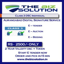 Class 3 Individual digital signature Certificate Aurangabad low price dsc