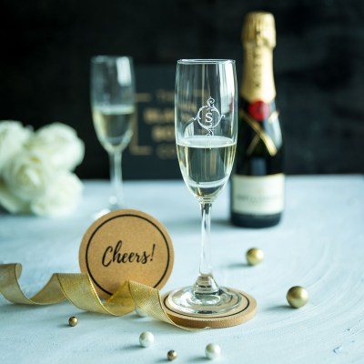 Personalised Champagne Glass