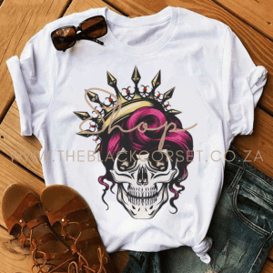 High Quality Clothes for Sales Online in South Africa Skull Queens The Crown T-Shirt