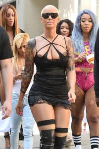 Amber Rose Arrives to Slut Walk Los Angeles