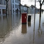 street in Lancaster hit by the flooding caused by Storm Desmond