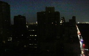 landscape of west-side Manhattan, New York City, during July 2019 blackout