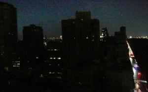 landscape of west-side Manhattan, New York City, during July 2019 blackout