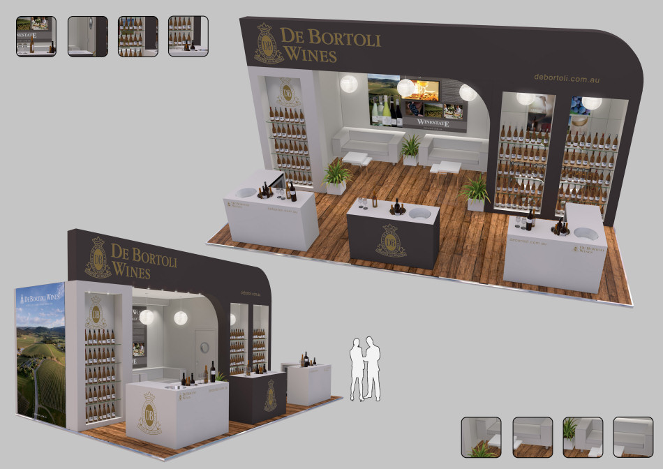Exhibition Stand Visualisation : Abc exhibitions exhibition stand visualisation 2 the black pear