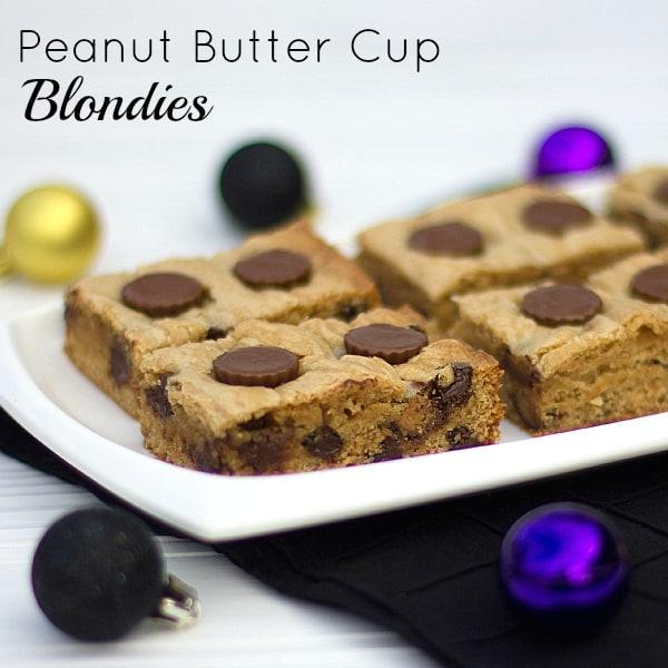 Peanut Butter Cup Blondies text