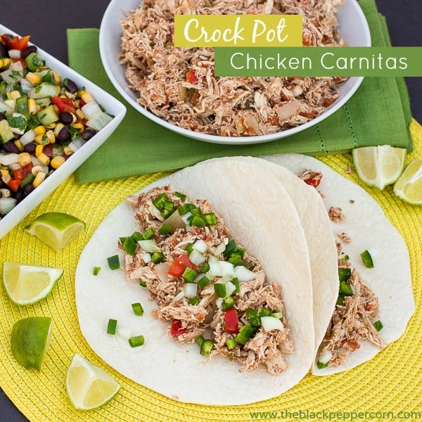 Crock Pot Chicken Carnitas-2 pin