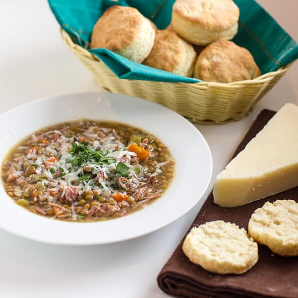 Crockpot Smoked Turkey Lentil Soup sq5