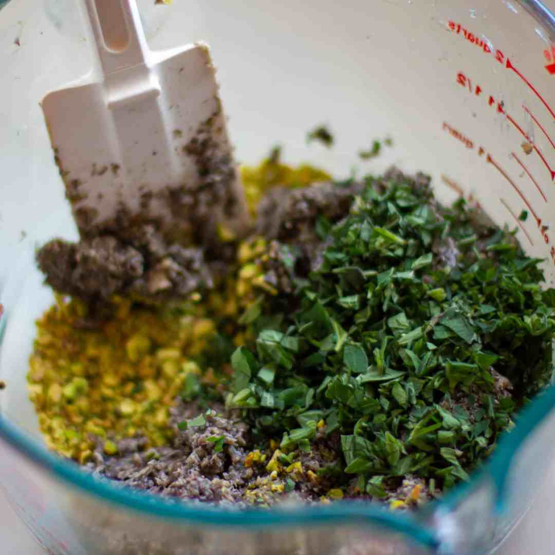 Mix together the filling ingredients