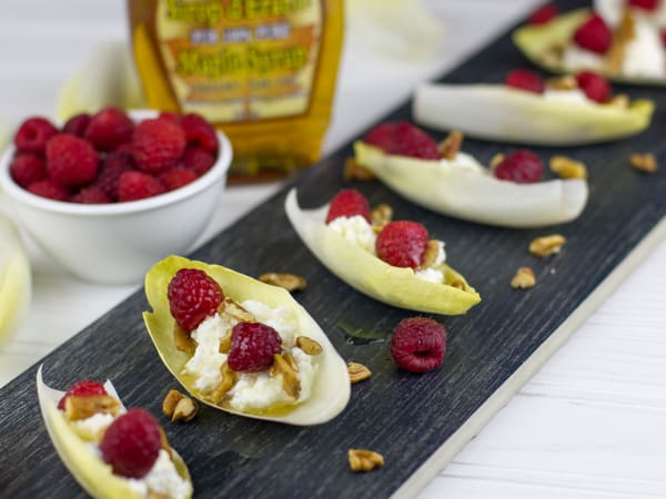 Endive with Ricotta Raspberry and Pecans 4x3