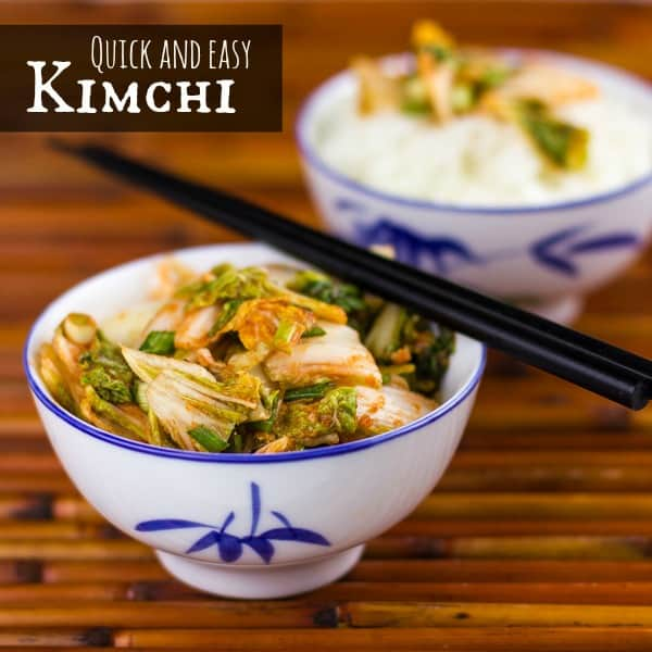 Quick and Easy Kimchi text