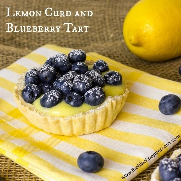 Lemon Blueberry Tart text