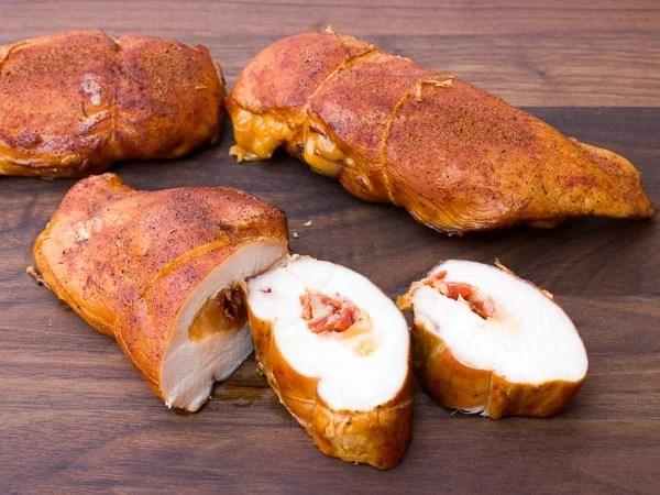 Smoked Chicken Breast Stuffed with Cheese and Chorizo