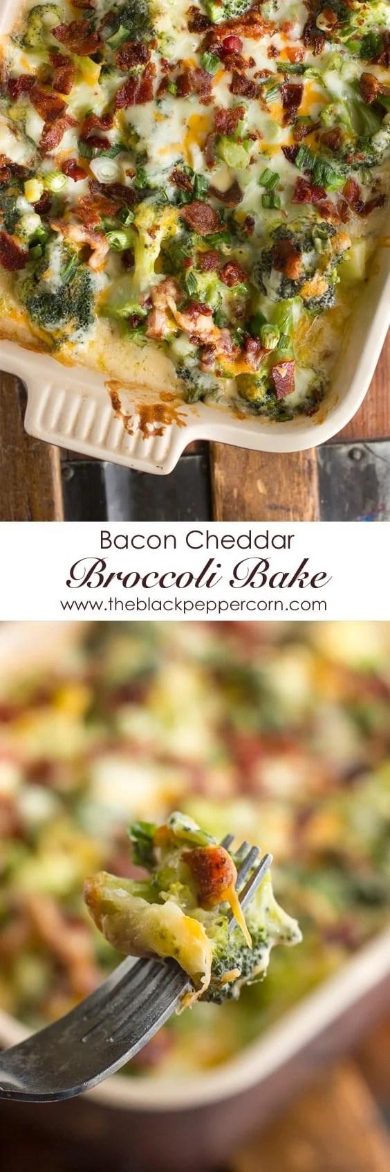 Bacon Cheddar Broccoli Bake
