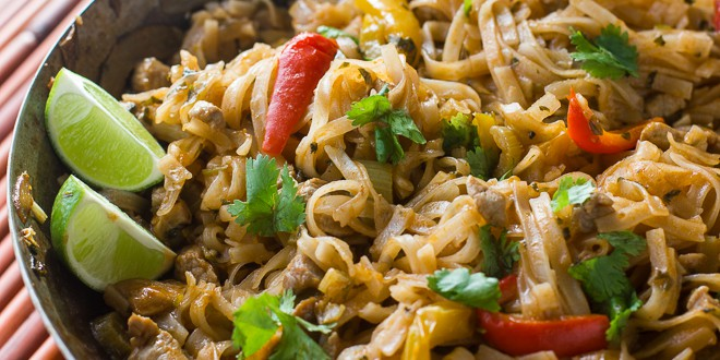 Thai Sweet Chili Pork with Rice Noodles