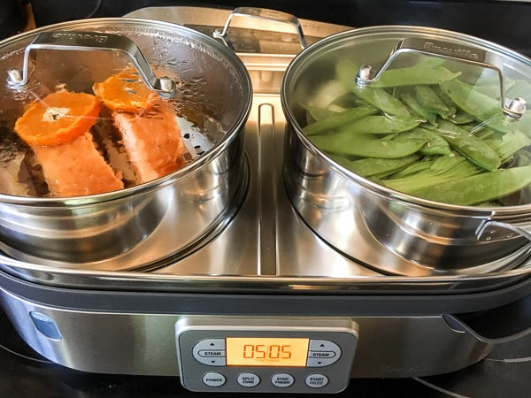 Steamed Salmon with Orange Hoisin Glaze