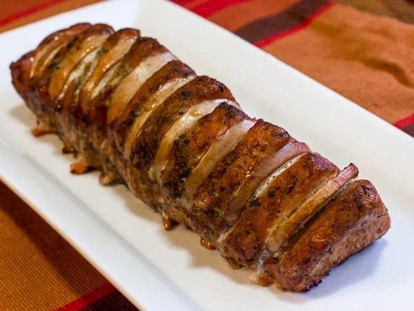 How to smoke a centre cut pork loin roast