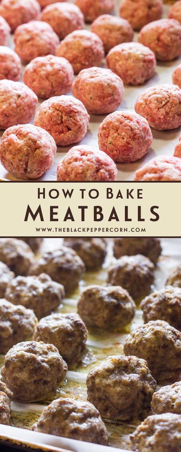 Oven baked meatball recipe