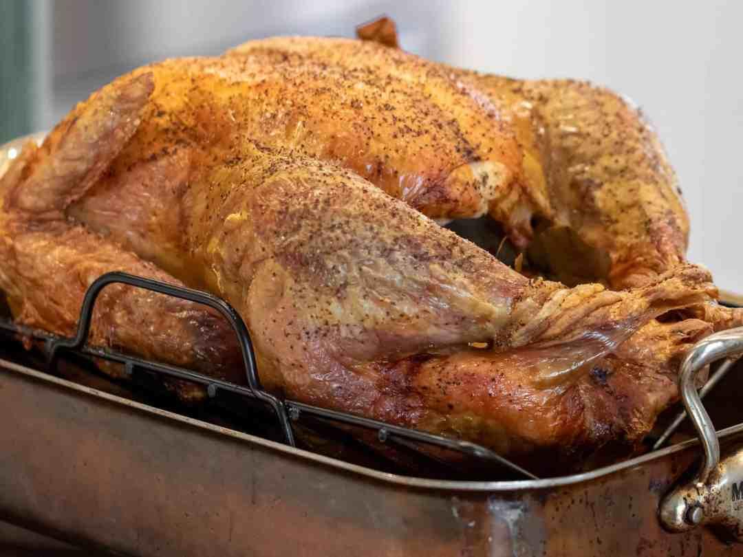 Perfectly roasted unstuffed turkey