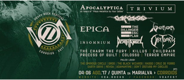 VOA Fest closes band billing for 2017 with Carcass and Venom