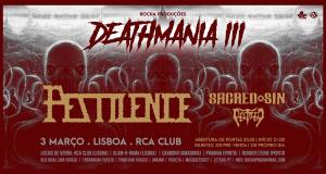 Preview: Deathmania Portugal 3 – Pestilence + Sacred Sin + Pestifer