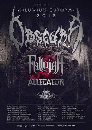 Obscura European tour