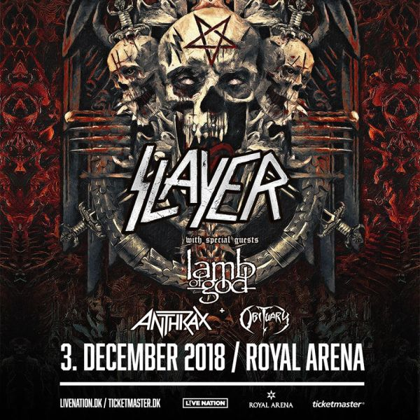 Preview: Slayer and special guests at Royal Arena, Copenhagen