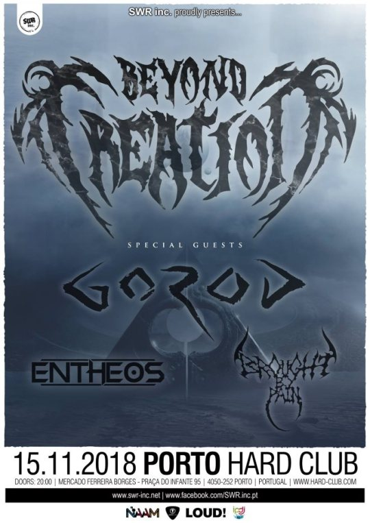 Preview: Beyond Creation + Gorod + Entheos + Brought By Pain @ Hard Club