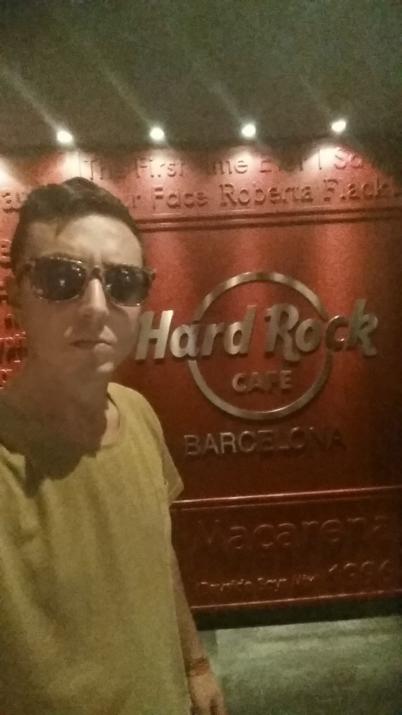 Selfie all' Hard Rock Cafè, Barcellona