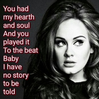 Rolling in the deep Adele