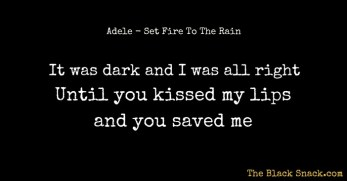 CITAZIONE Set Fire To The Rain ADELE