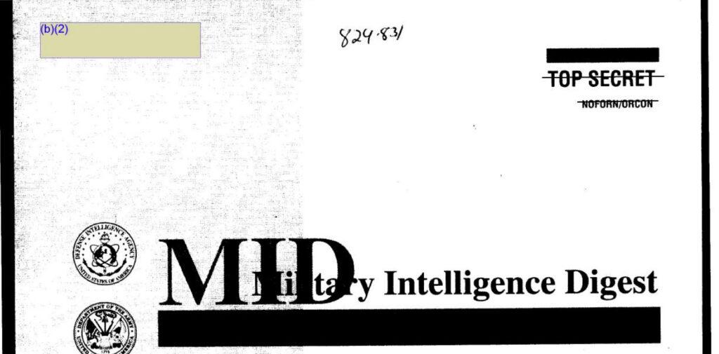 Military Intelligence Digest (Defense Intelligence Agency