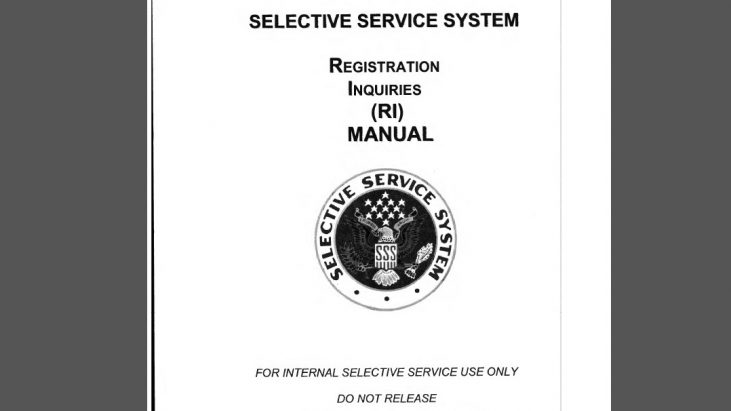 Selective Service System Registration Inquiries Manual