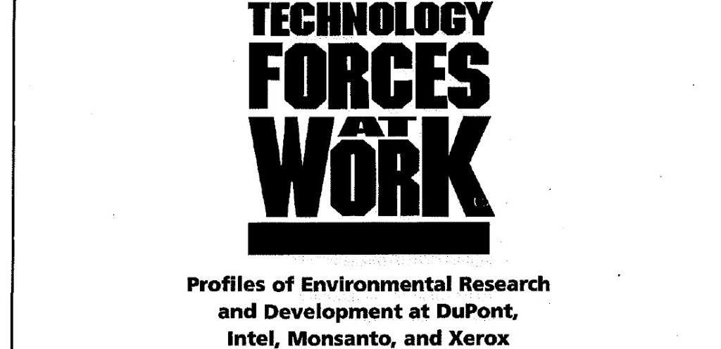 Technology Forces at Work. Profiles of Environmental