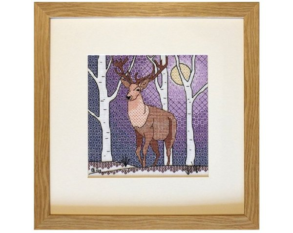 Deer Blackwork Embroidery Kit