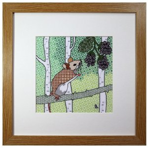 Mouse Blackwork Embroidery Kit