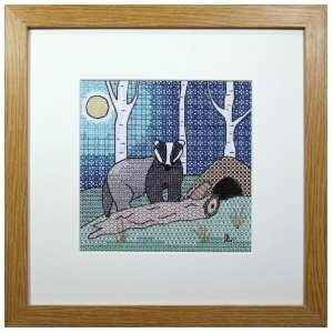 Badger Blackwork Embroidery Kit