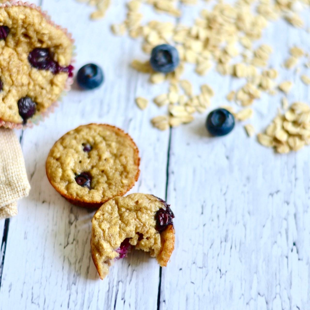 Gluten Free Blueberry Banana Blender Muffins