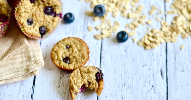 Gluten Free Blueberry Banana Blender Muffins