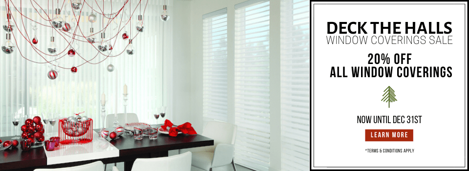 Holiday Sale: Save 20% of All Window Coverings