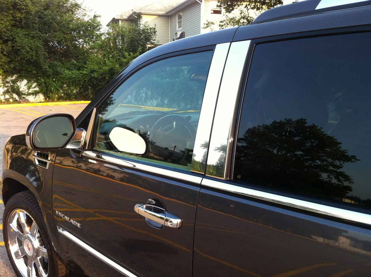 hight resolution of 2013 cadillac escalade chrome pillar post trim