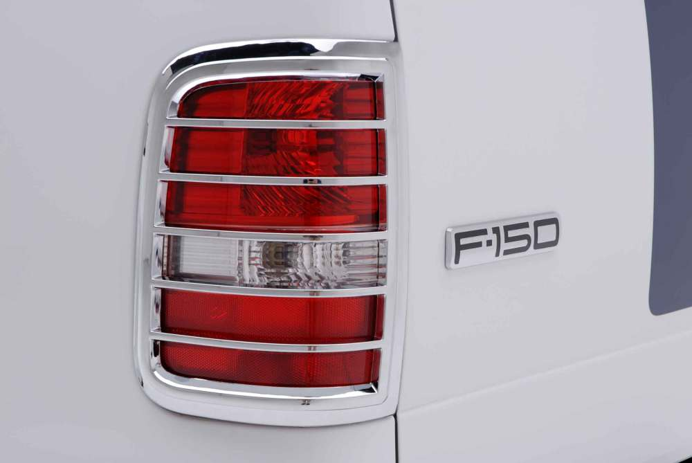 medium resolution of ford f 150 chrome tail light bezel trim close up ford f150