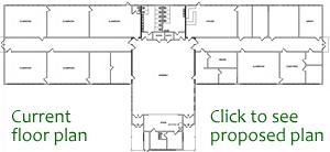 Interior floor plan (some doors missing)