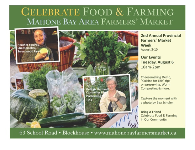 Bring a Friend to Celebrate the 2nd Provincial Farmers' Market Week