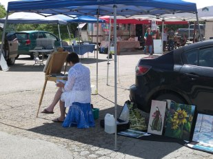 Artist at the Farmers Market