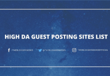 High da GUEST POSTING Sites list
