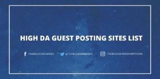 High da GUEST POSTING Sites list