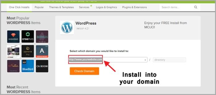 install into domain