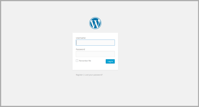 how do i self host my wordpress blog - login page